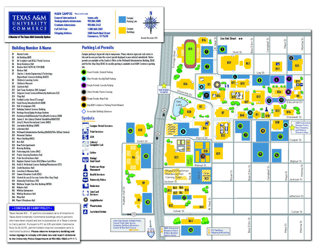 Texas A&M Commerce Map Campus Map | Department of Art at Texas A&M University Commerce