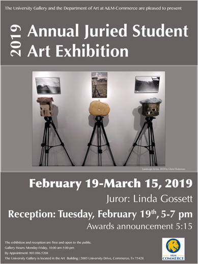Annual Juried Student Art Exhibition 2019